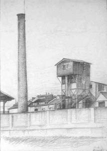 Redecesio - 1952 matita su carta cm. 23x32
